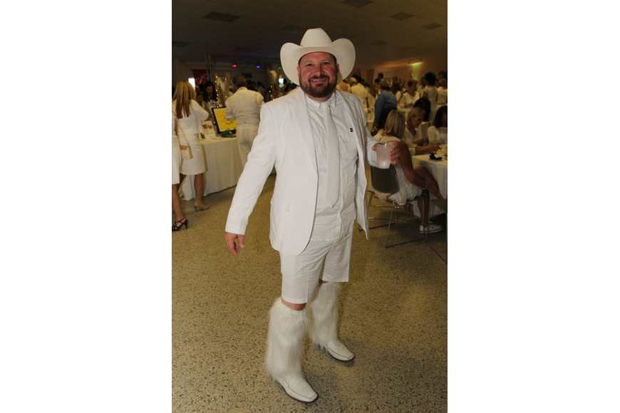 Matthew Erickson donned a cowboy outfit and hit the party.