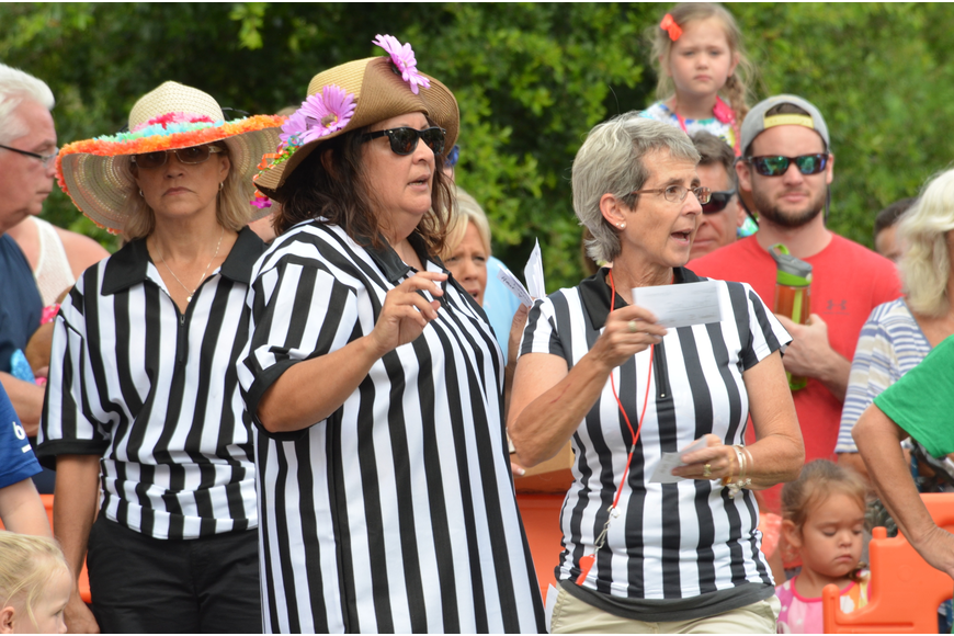 Referees kept the races operating smoothly.