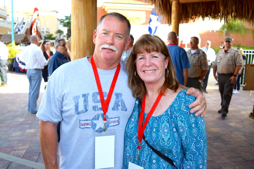 Dave and Kathy Pierson were all smiles.