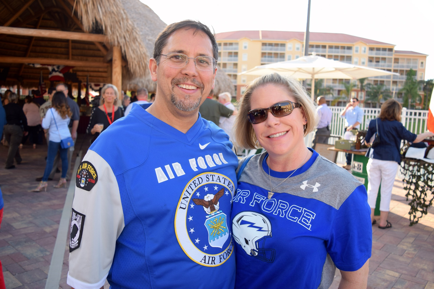 U.S. Air Force Maj. Robert Apodaca and wife Christy were pleased to be attending the reception.