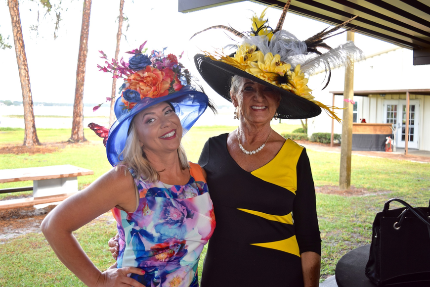 Samantha Robinson and Diane King donned elaborate hats.