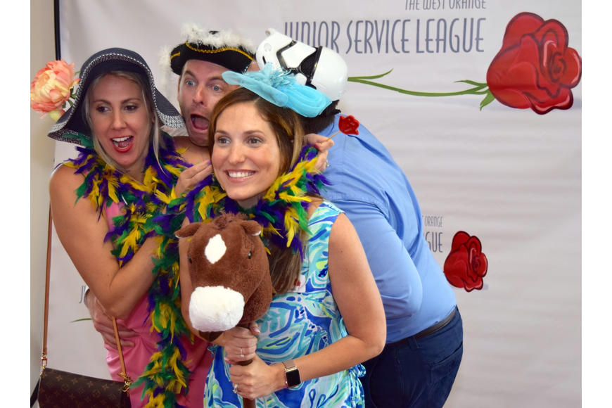 Attendees loved posing with props in the photo booth.