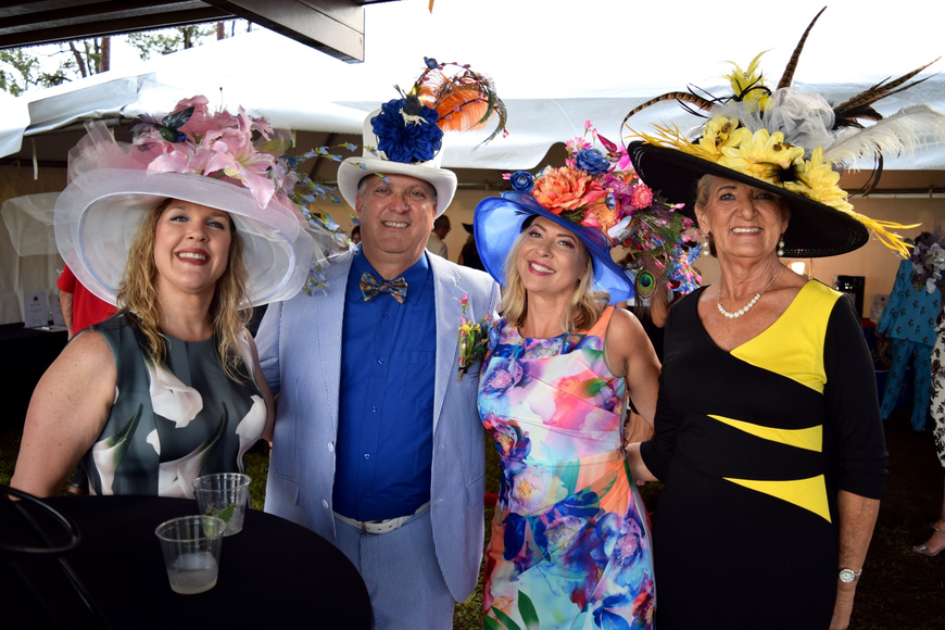 Melanie Winslow, Dennis and Samantha Robinson and Diane King looked fabulous for Derby Day.