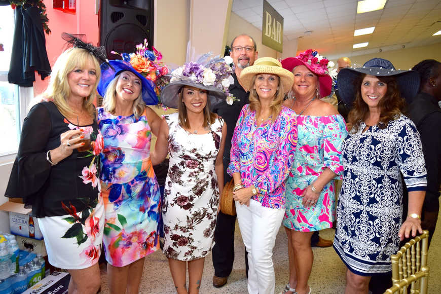 Kathy Thompson, Samantha Robinson, Megan Oakley, Scott Glass, Tami Karr, Kathie Glass and Betsy Shaw looked great in bright colors and patterns.