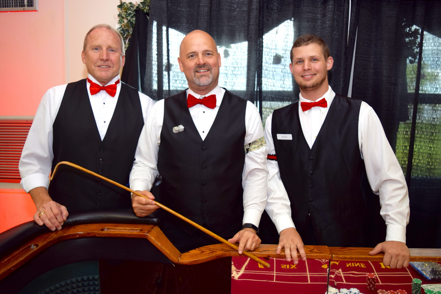 Steve Syphard, Damon Collins and Nick Konowal were ready to facilitate casino games.