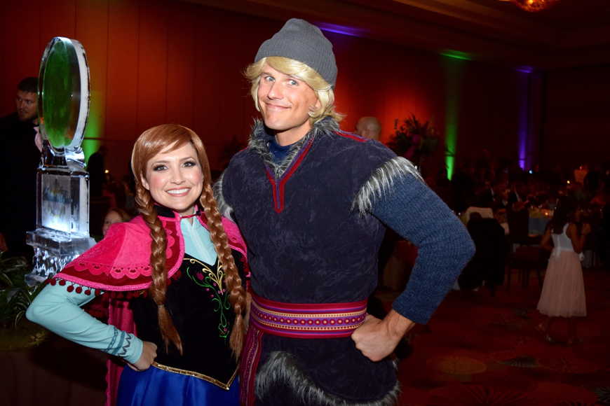 "Anna and Kristoff, from ""Frozen,"" made an appearance to sign autographs."