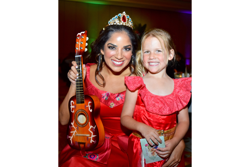 Audrey Stagg was all smiles with Elena of Avalor.