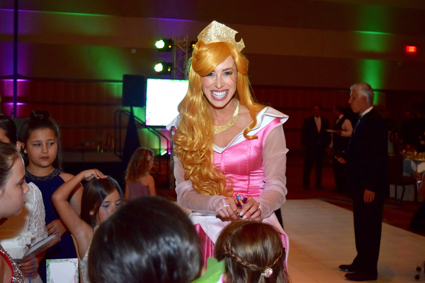 Princess Aurora was ecstatic that so many little girls were happy to see her.
