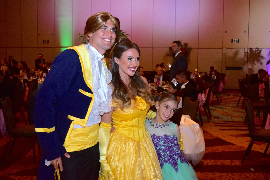 "Adam, previously known as the ""Beast,"" and Princess Belle were all smiles with Ella-Valentina Valenzuela."