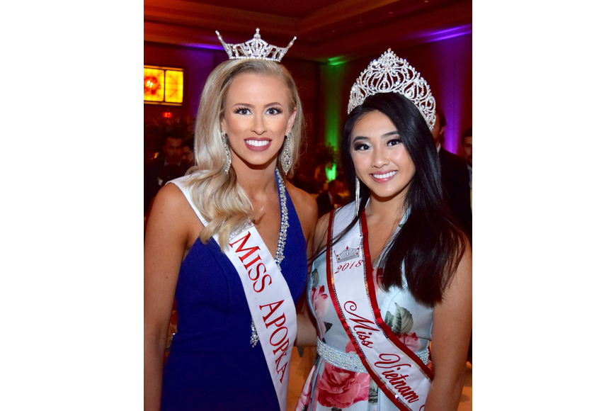 Miss Apopka Lindsay Bettis and Miss Vietnam Florida Francine Hoang made an appearance to pose for pictures and sign autographs.