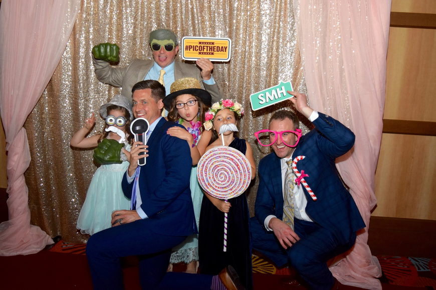 Kennedy Graf, Matt Birnie, Tom McGaffic, Emily McGaffic, Hayden Schneider and Jonah Schneider had a blast in the photo booth.