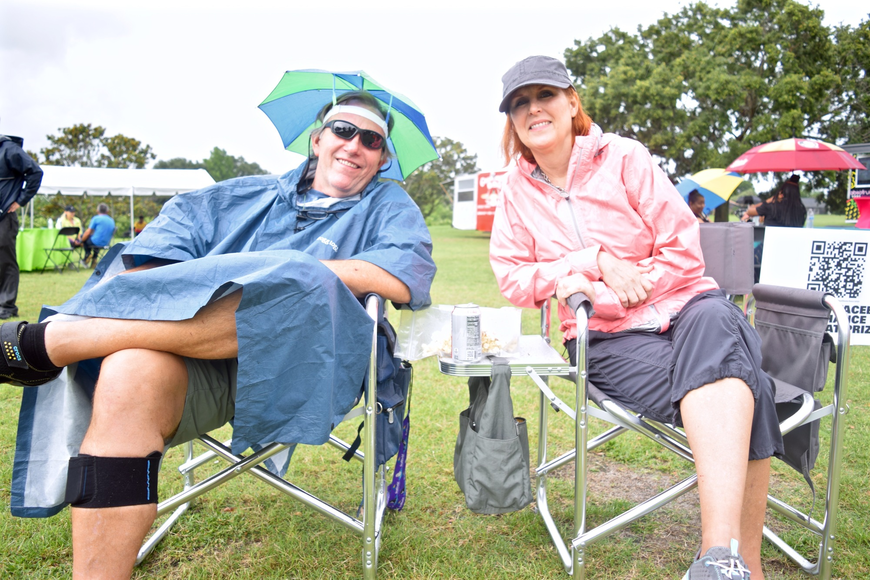 Ralphee Addington and Lorri Highet didn't let the rain stop them from attending Music Fest.