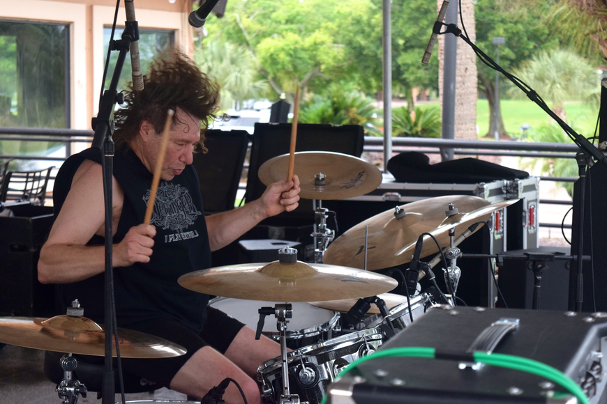 Kenn Moutenot is a talented drummer, and part of Rick Derringer's band.