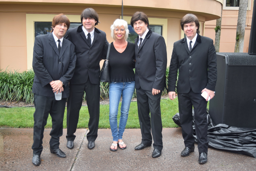 Lisa Cresch posed with Liverpool Live after the band's performance.