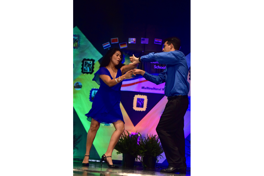 Lester and Karla Herrera showed off their salsa-dancing skills.