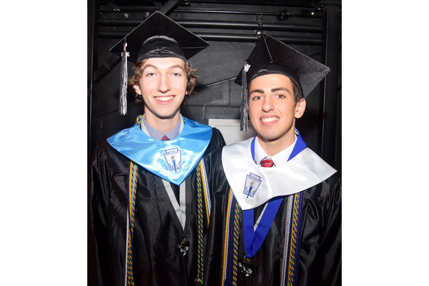 Salutatorian Mark Daniel Leongomez and valedictorian Michael Thomas Russo were ready to give their speeches.