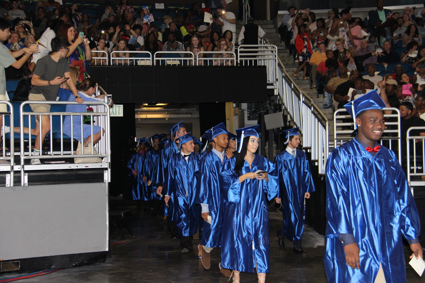 DPHS class of 2018 walked across the arena to take their seats.