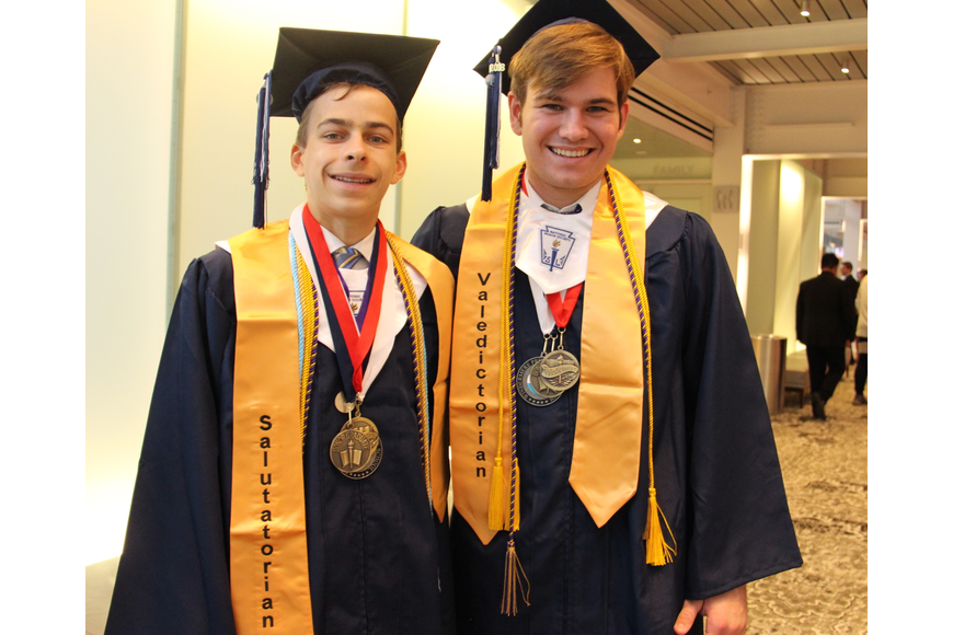 Salutatorian Franklin Estein and valedictorian William Sealy were ready to address their fellow graduates.