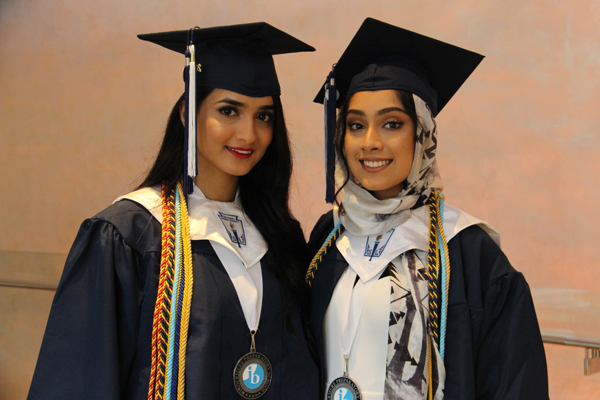 Suha Ansari and Hiba Syed were all smiles.