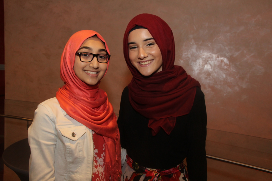 Dania Rasheed and Maryam Squires were thrilled for the event to start.