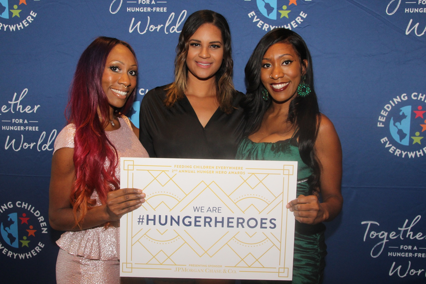 Niccole Anthony, Desiree Samuel and Vernee Anthony posed for a photo.