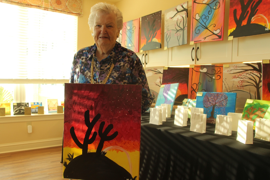 Marian Hayes was proud of her desert painting.