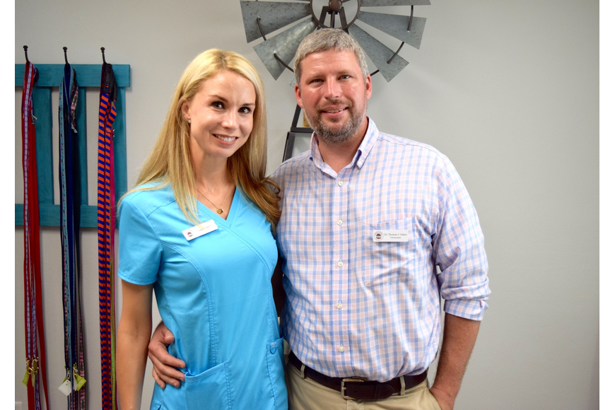 Lisa and Dr. TJ Oakes are thrilled that their veterinary clinic is finally open.