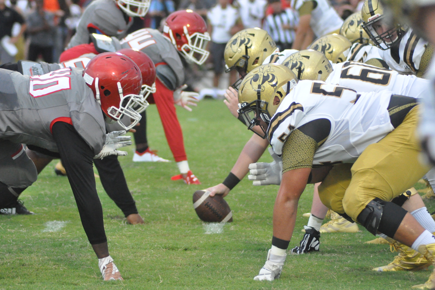 It was an intense game between Edgewater and Bishop Moore.