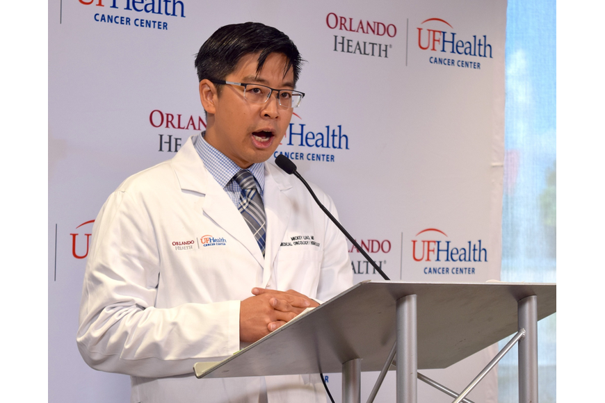 Medical oncologist Dr. Mickey Liao shared his gratitude for the new facility with the community.