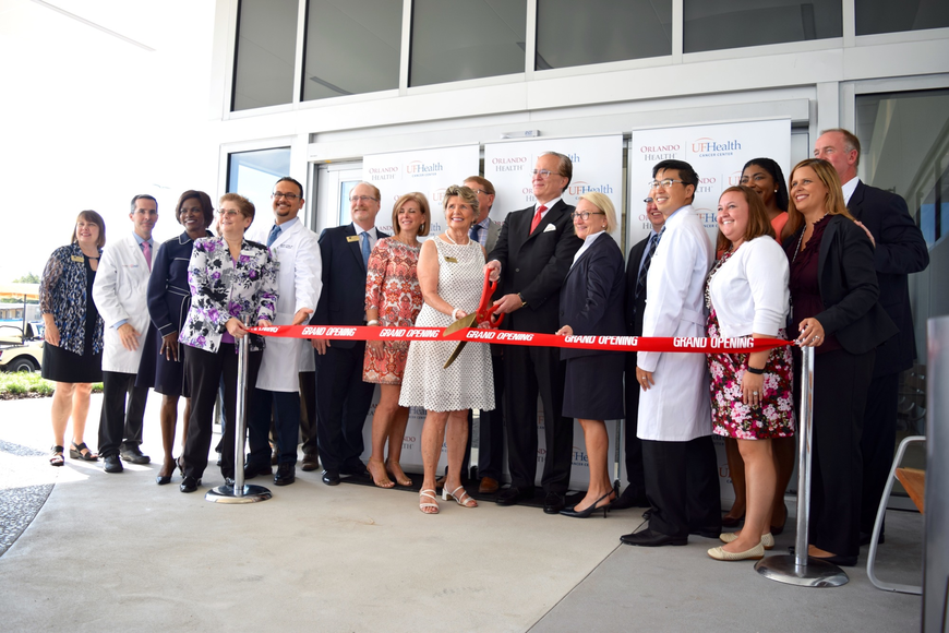 Orlando Health and West Orange Healthcare District officials and doctors cut the ribbon to signify the grand opening.