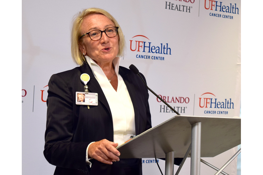 Bernadette Spong, CFO of Orlando Health, emphasized how important it is to have a world-class facility like the new cancer center in West Orange County.