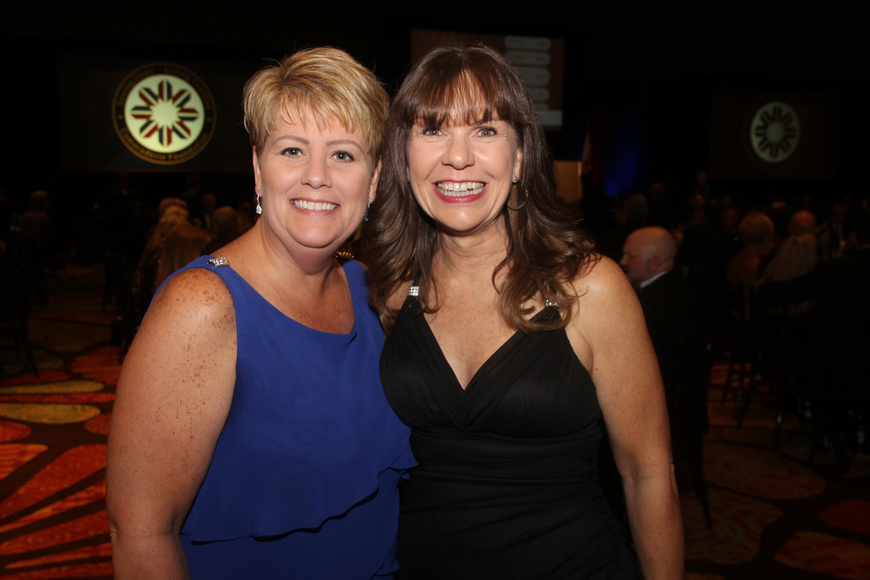 Amy Albright and Kathy Gibson were happy to support the cause.