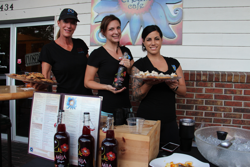 Dixie Cream Cafe Owner Stephanie Desaulniers, left, server Jessie Nolla and server Christina Fata served up sweets, snacks and sangria.