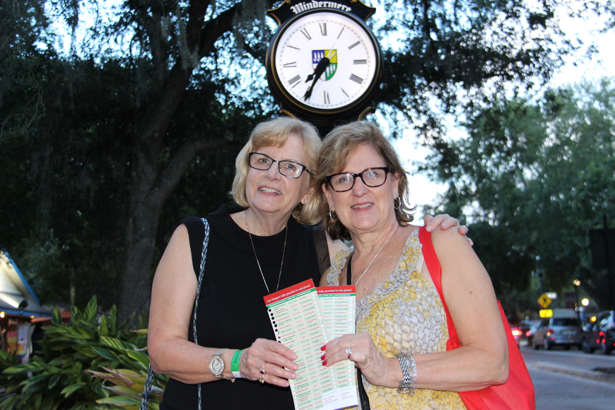 Patty Goonen, left, and Mary Beth Duff had fun at the stroll.