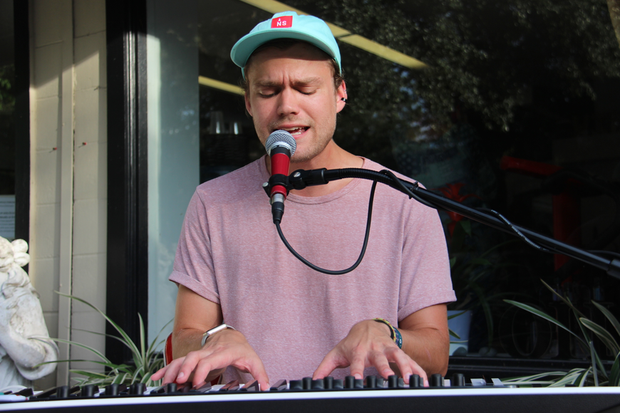 Jared DeFriese sang sweetly as he played the piano.