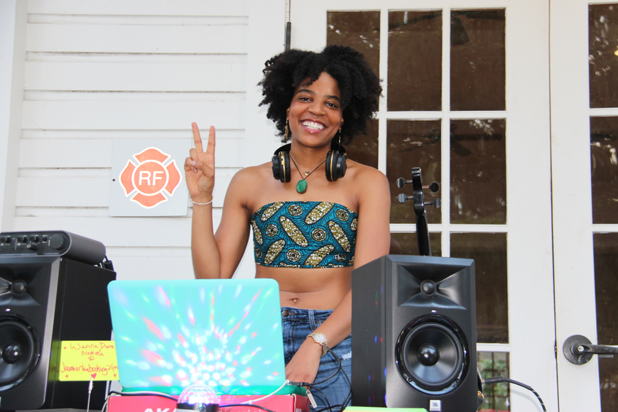 Jasmin Rhia played a mix of music as she Deejayed at the event.