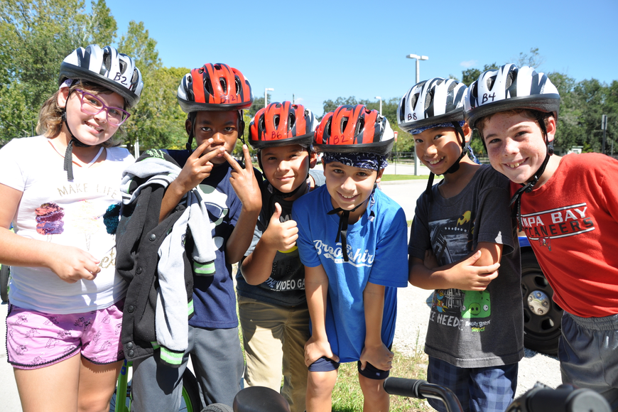 Brookshire Elementary students had a ton of fun at the bike rodeo.