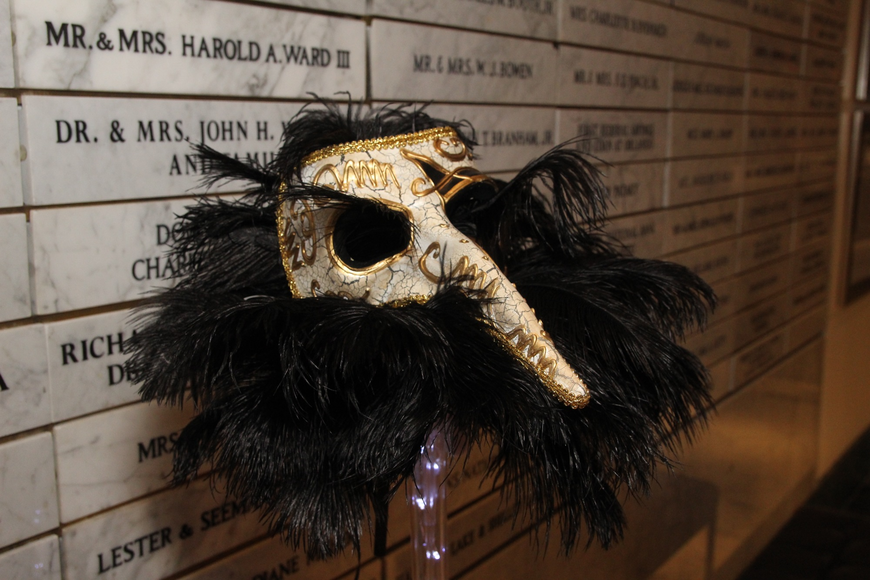 The night had a number of Bourbon street masquerade masks.