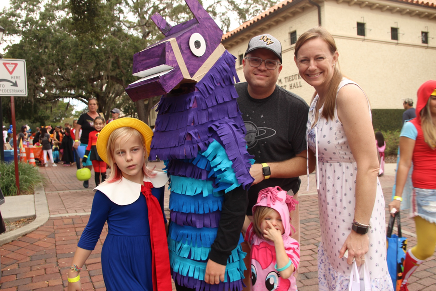 The Welch family sported some unique costumes.
