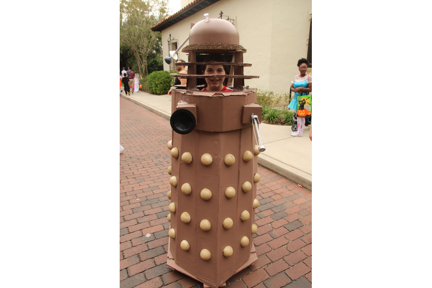 Emily Arms worked hard on her Dalek costume.