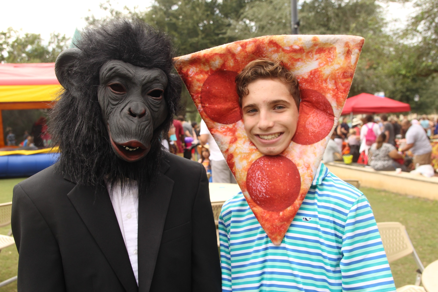 Christopher Bonatis and Christian Arnold were the Chimp and the Pizza Man.