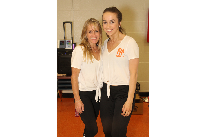 Winter Park High School ROAR dance coach Joyce Winter and assistant coach Abigail Lacallade kept the students dancing and the show running smoothly.