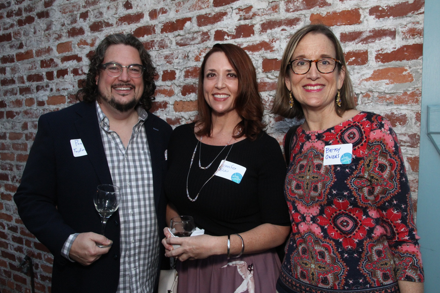 Winter Park Distilling Company owner Paul Twyford, Jennifer Blair and Betsy Owens
