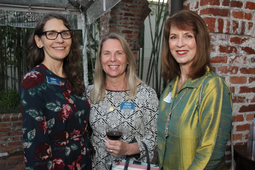 Cornell Fine Arts Museum Membership and Guest Relations Coordinator Dina Mack, Communications Manager Jo Marie Hebeler and Winter Park Institute Executive Director Dr. Gail Sinclair