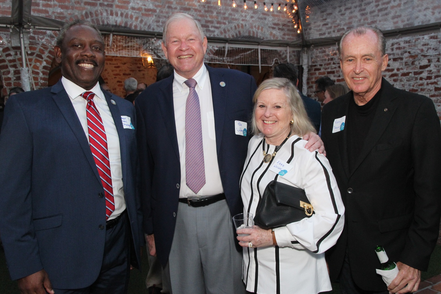 Orange County mayor Jerry Demings, Winter Park commissioner Pete and Fran Weldon and Gary Brewer