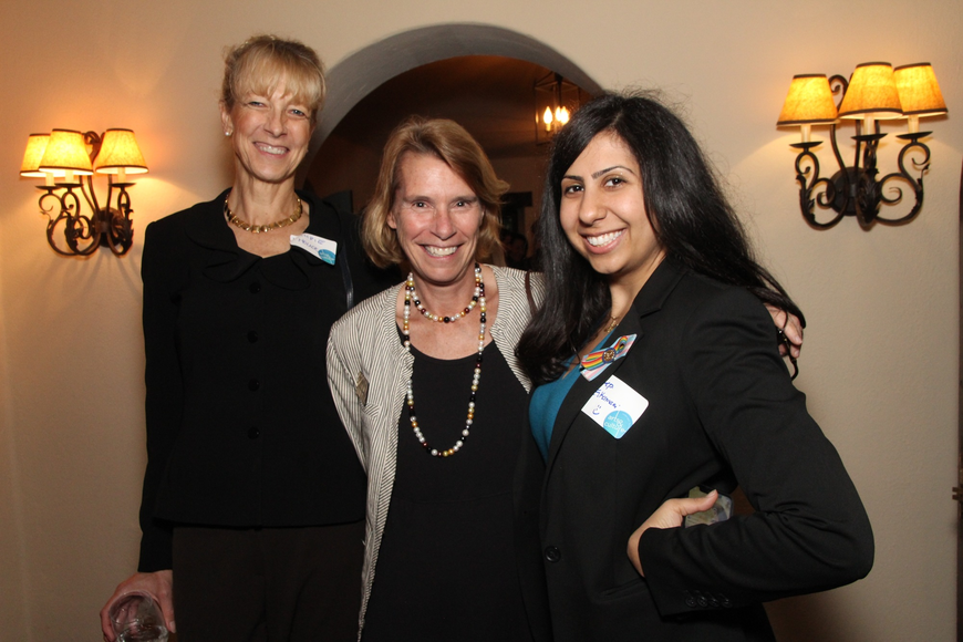 Laurie Hock, Peg Cornwell and state Rep. Anna Eskamani