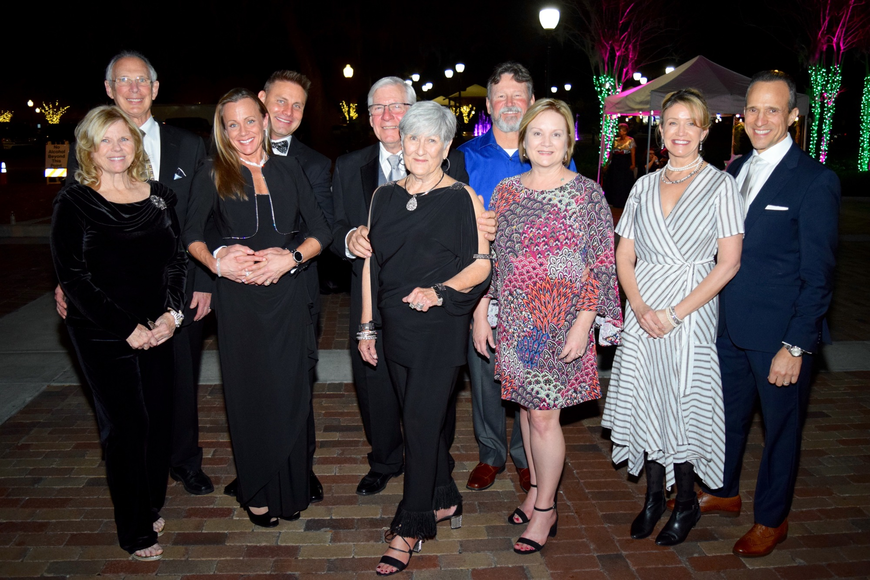 From left: Linda and Winter Garden Mayor John Rees; Cyndi and Commissioner Colin Sharman; Commissioner Bob Buchanan and Andy Davis; Greg and Commissioner Lisa Bennett; Justine and Commissioner Mark Maciel.