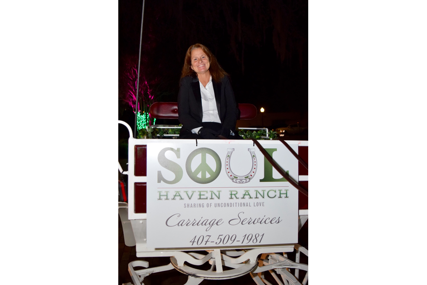 Soul Haven Ranch owner Susan Nastasi offered her horse-and-carriage rides as a live-auction item.