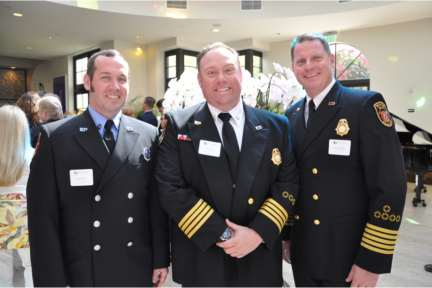 Kevin Powers, Deputy Fire Chief Ryan Fischer and Fire Chief Dan Hagedorn of the Winter Park Fire-Rescue Department looked sharp in their uniforms.