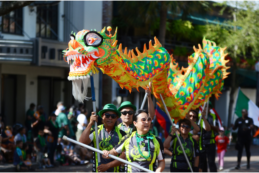 CHARGE Dragon Boat Orlando showcased a dragon dance in the parade.